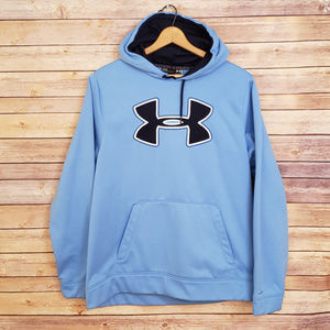 Under Armour Loose Store Blue Hoodie Women Large